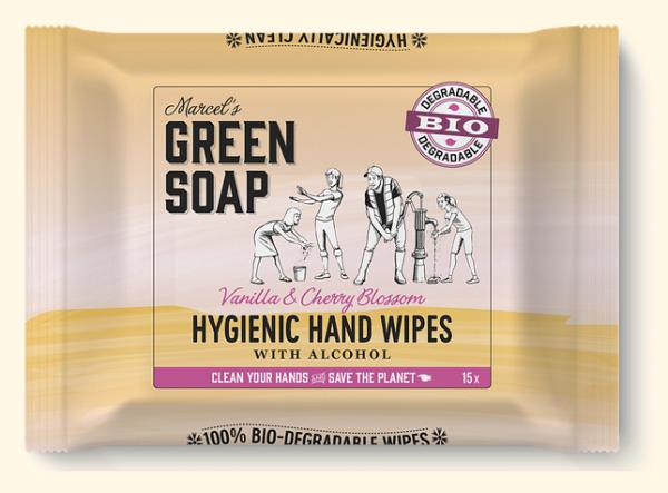hand wipes vanilla & cherry blossom bio