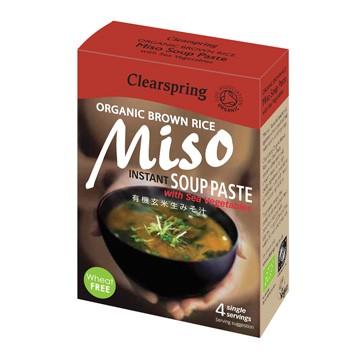 Instant miso-soeppasta met zeegroente