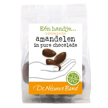 Amandel in pure chocolade