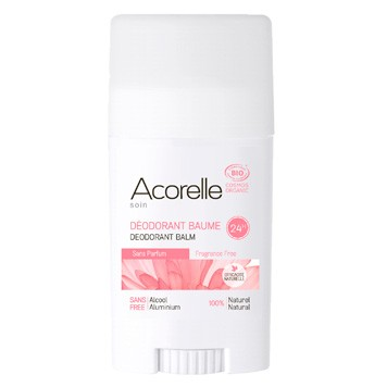 Fragrance free deodorant balm
