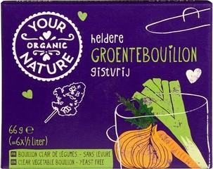 heldere groentebouillonblokjes zonder gist
