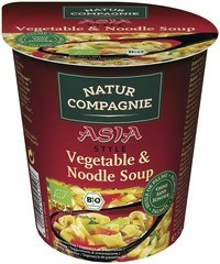 Asia vegetable & noodle soup