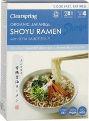 Japanese shoyu ramen noodles with soya sauce soup