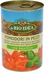 Tomatenstukjes met basilicum
