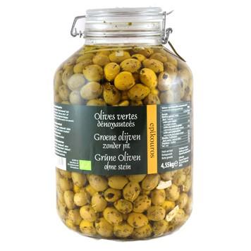 Olijven groen zonder pit in kruidenolie