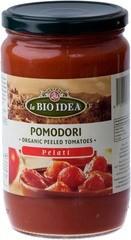 Tomaten gepeld in glas