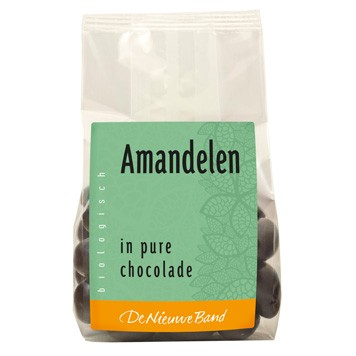 Amandelen in pure chocolade